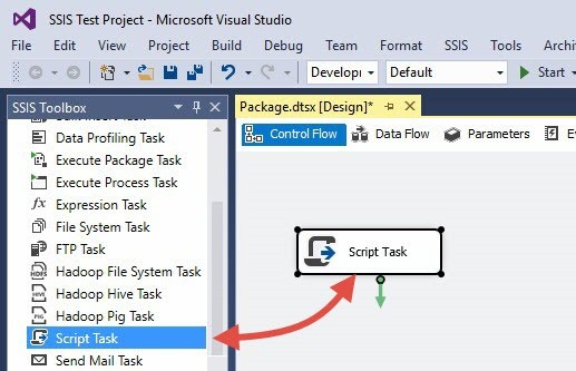 SSIS 2016: Building and Deploying a Simple Test Project