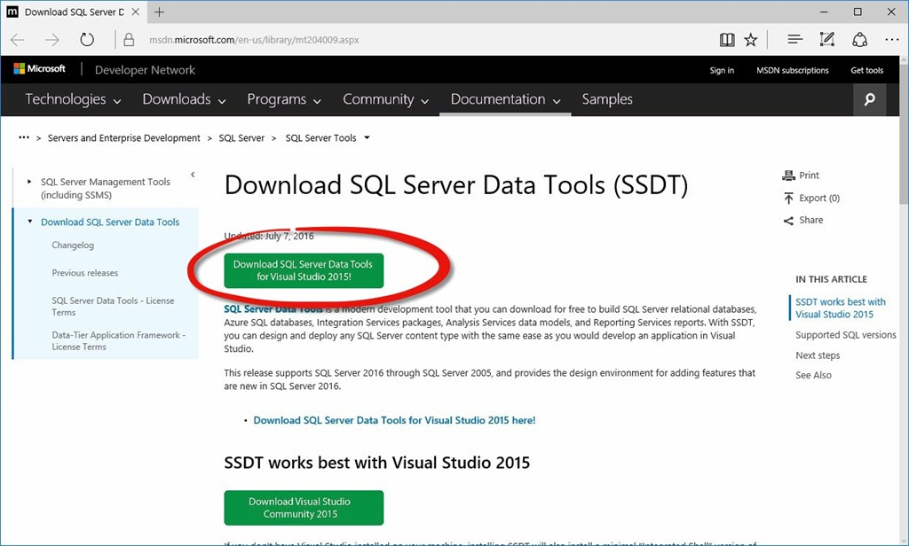A New Version of SSDT is Available - AndyLeonard blog()