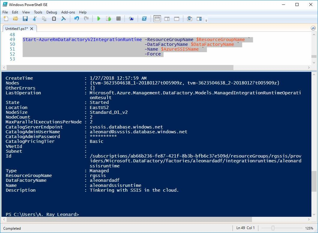Andy's Excellent SSIS-in-the-Cloud Adventure, Part 1 - Build an