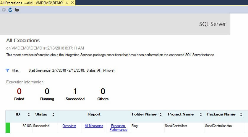 Parallel Execution in SSIS Framework Community Edition