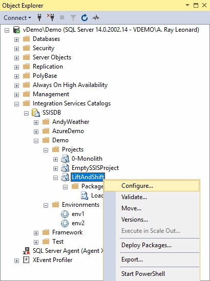 Viewing SSIS Configurations Metadata in SSMS - AndyLeonard blog()